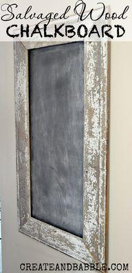 Salvaged Wood Chalkb