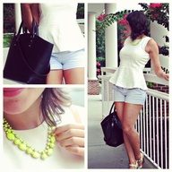 loving how @MyStyleVita styled her necklace with a sweet peplum top and shorts! #showusyoursparkle