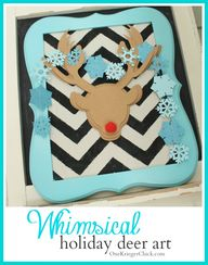 Whimsical Deer Art c