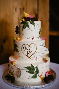 Neat birch tree cake