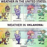 Oklahoma weather!! Gotta ❤ it
