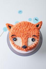 DIY Furry Fox Cake T