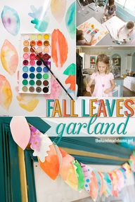 easy fall garland |