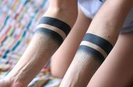gradient arm bands.