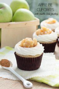 Apple Pie Cupcakes w