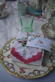 Vintage bridal shower party favors