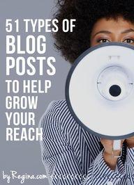 51 Types of Blog Pos