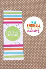 Printable Birthday C