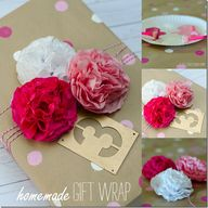 Homemade Gift Wrap …