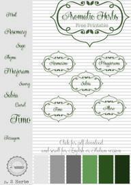 free printables herb