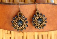 Beaded Rivoli Earrin