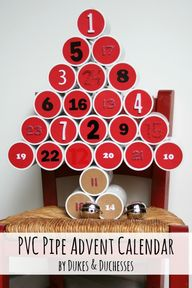 pvc pipe advent cale