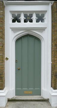 Arched door and tran