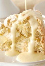 Irish Apple Cake wit...