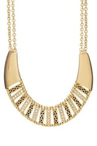 Festival Flair: Tribal Chic  Seneca Gold Necklace