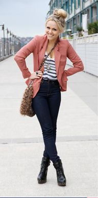 rose, navy stripes,