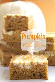 Pumpkin Roll Bars at...