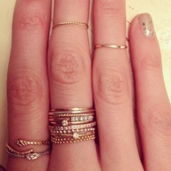 Thin Stacked Rings -