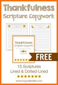 Thankfulness Scriptu...