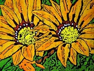 Sunflower batik art