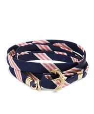 navy and pink wrap b...