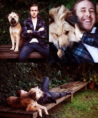 Ryan Gosling + dog =