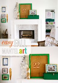 easy fall mantel art