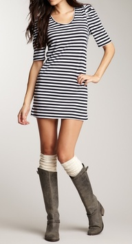 Nautical stripes & b...
