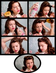 40s hair tutorial