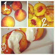 baked peaches with h...