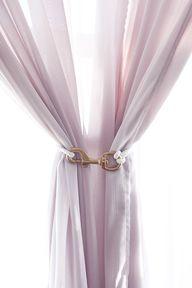 DIY curtain tiebacks