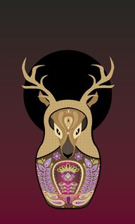 Deer Doll Art Print