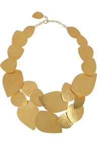 Hervé Van Der Straeten|24-karat gold-plated leaf necklace