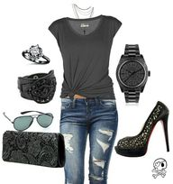 Women's fashion edgy
