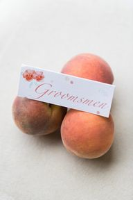 soft peach placecard