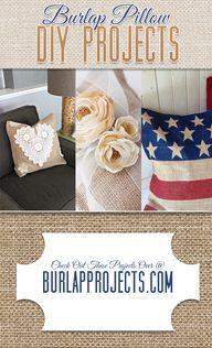 Burlap Pillow DIY Pr