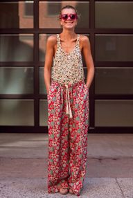 mixed floral prints.