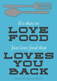 Loving food that lov...