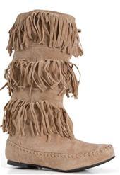 Fringe moccasin boot