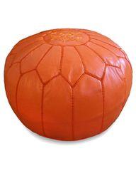 orange poufs!