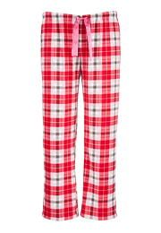 Red plaid fleece plu