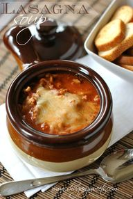 Lasagna Soup: the pe