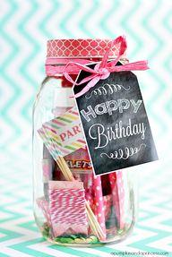 Birthday in a jar -
