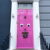 google eyes door