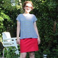 striped knit scout b