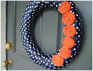 Orange & Navy. Scarl