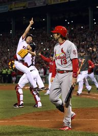 Matt Carpenter walks