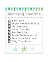 Morning Routine chec