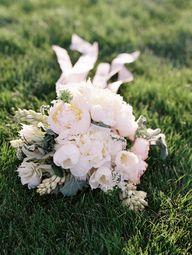 white wedding bouque