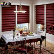 Hobbled roman shades